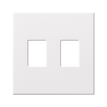 Architectural 2 Gang Wall Plate by Lutron | vwp-2-wh