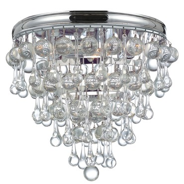 Calypso Ceiling Flush Mount by Crystorama | 135-CH