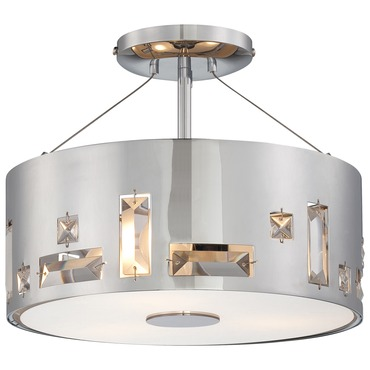 Bling Bang Semi Flush Ceiling Light by George Kovacs | P1091-077