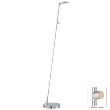 Georges LED Square Head Reading Room Pharmacy Floor Lamp