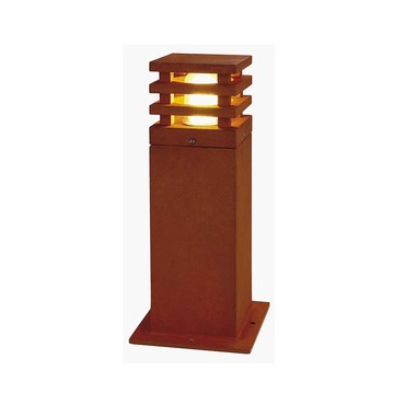 Rusty Square Outdoor Bollard by SLV Lighting | 4229420U