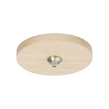 4 Inch Round Flush Wood Canopy by Tech Lighting | 700FJ4RDWS