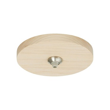 FreeJack LED 4 Inch Round Wood Flush Canopy by Tech Lighting | 700FJ4RDMS-LED