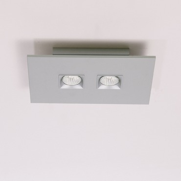 Polifemo 2 Light Rectangular Ceiling Flush Mount