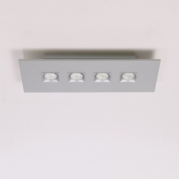 Polifemo 4 Light Rectangular Ceiling Flush Mount