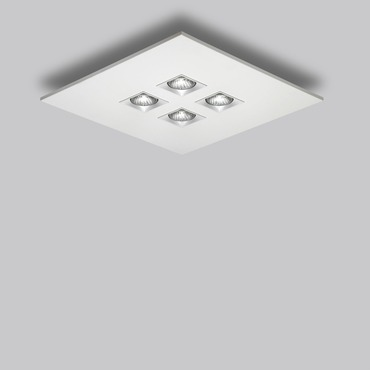 Polifemo 4 Light Square Ceiling Flush Mount