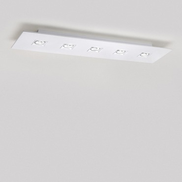 Polifemo 5 Light Rectangular Ceiling Flush Mount