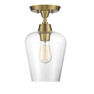 Octave Long Semi Flush Ceiling Light