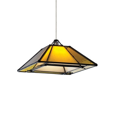 Kable Lite Halogen Oak Park Pendant