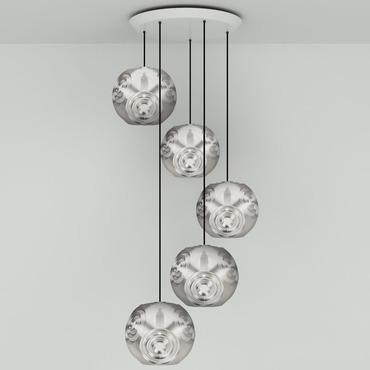 Curve Round Multi Light Pendant