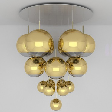 Mirror Ball Mega Multi Light Pendant