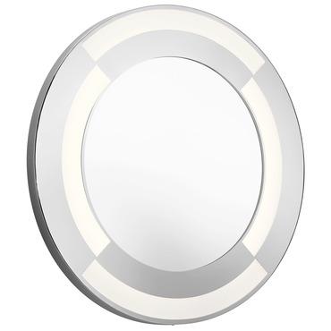 Round Mirror With Full Inlay Glass By Elan Ela 83996