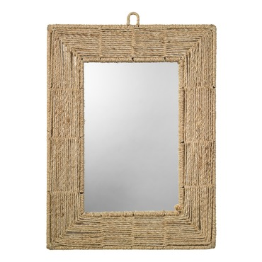 Jute Rectangle Mirror