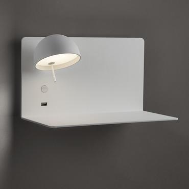 Beddy Wall Light with Long Shelf