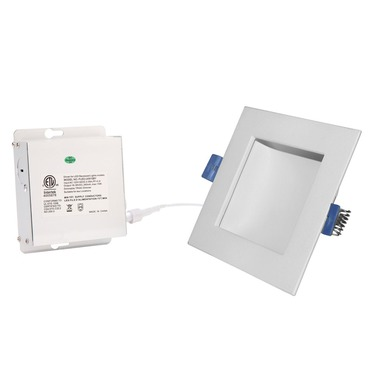 Back Lit 4IN SQ Color Changing Panel Downlight Trim
