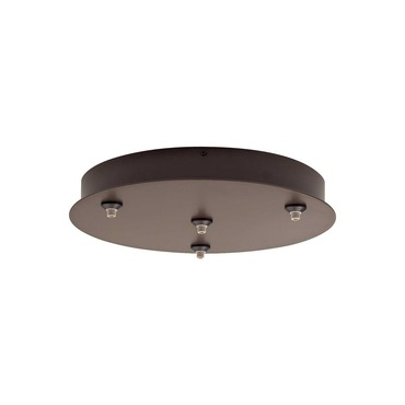 FreeJack 4 Port Round Canopy by Tech Lighting | 700FJR4Z