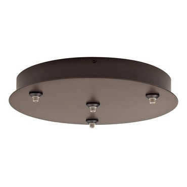 FreeJack LED 4 Port Round Canopy by Tech Lighting | 700FJR4Z-LED