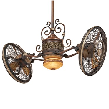 Cage Free Gyro Ceiling Fan With Light By Minka Aire