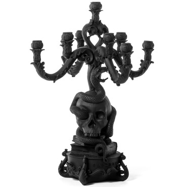 Giant Burlesque Skull Candle Holder