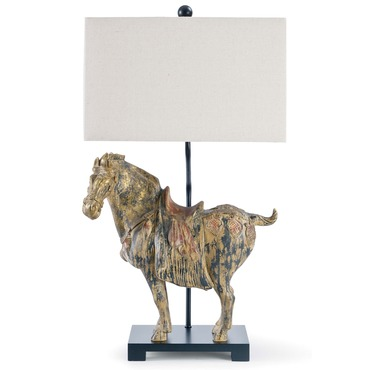 Dynasty Horse Table Lamp Pair