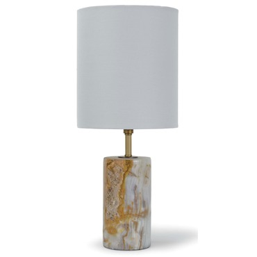 Jade and Brass Table Lamp