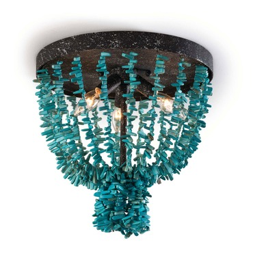 Beaded Turquoise Ceiling Light Fixture