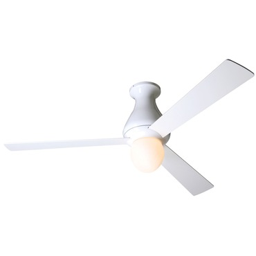 Altus Flush Ceiling Fan with Light by Modern Fan Co. | ALT-FM-BA-52-WH-251-003