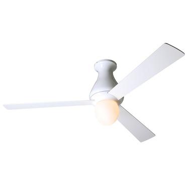 Altus Flush Ceiling Fan with Light by Modern Fan Co. | ALT-FM-BA-52-WH-251-003