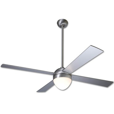 Ball Ceiling Fan with Light by Modern Fan Co. | BAL-BA-52-AL-650-NC