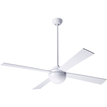 Ball Ceiling Fan No Light by Modern Fan Co. | BAL-GW-42-WH-NL-NC