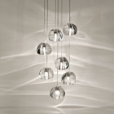 Mizu 7 Light Pendant by Terzani USA | 0R07SH4A9A