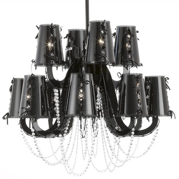Lola Chandelier with Crystals by Brand Van Egmond | LLCCR100BLMU