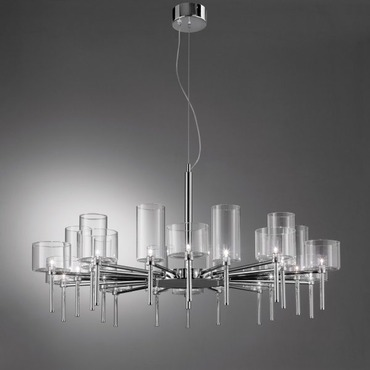 Spillray 20 Light Chandelier by Axo Light | USSPIL20CSCR12V