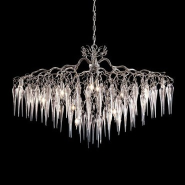 Hollywood Oval Glass Chandelier