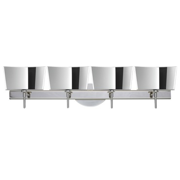 Groove Bath Bar with Round Canopy by Besa Lighting | 4SW-6773MR-CR