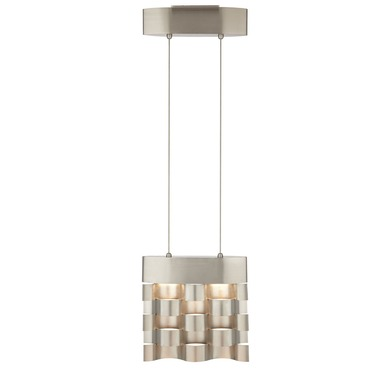 Metal Weave LED Square Pendant