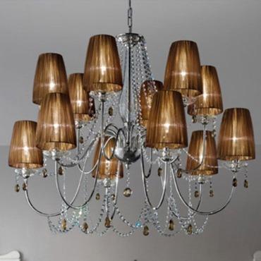 Hermitage LA12 Chandelier by Evi Style - Medialight | ES0701LA04GTAL