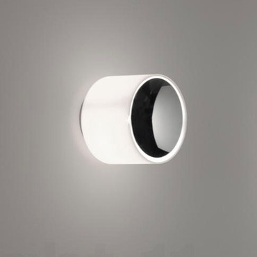 Round PP Wall Sconce with Glass Lens