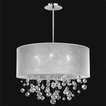 Silhouette Pendant by Glow Lighting | 590BD21SP-W-7C