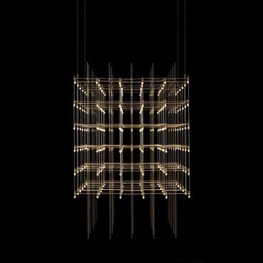 Universo Square Suspension by PureEdge Lighting | UNIV-25-L1-SN