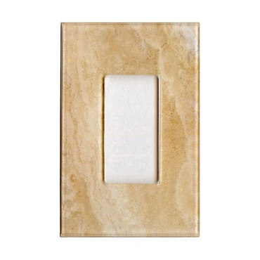 Beige Marble Single Rocker by HomePlates | BEIGEMARB-SD