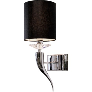Loving Arms W1 Single Wall Lamp by Ilfari | ILF6240.02.BK