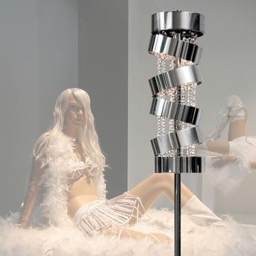 Secret Club Floor Lamp with Swarovski Crystal by Ilfari   ILF6396s