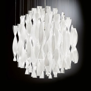 AVIR Round Semi Flush Ceiling Light by Axo Light | UPAVIR60BCCRE26