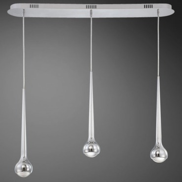 Micro 3 Light LED Linear Pendant
