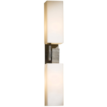 Ondrian Vertical 2 Light Wall Light by Hubbardton Forge | 207801-07-G351