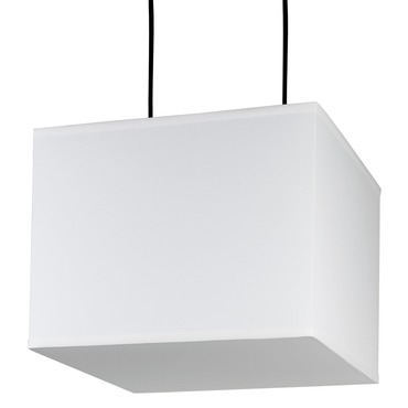 Rex Square Pendant by Lights Up | RS-9218BN-WHT