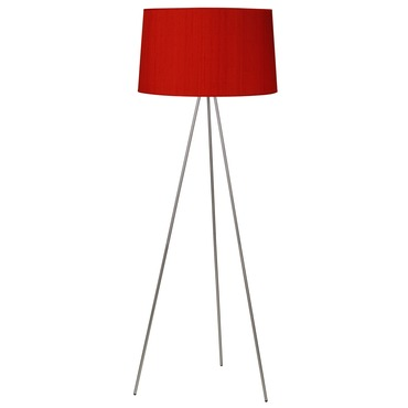 Weegee Floor Lamp with Dupioni Silk by Lights Up | RS-703BN-RDP
