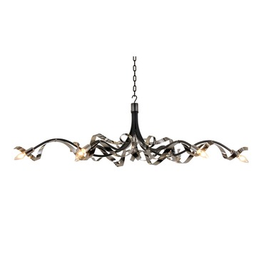 Ruban Plie Oval 6 light Chandelier