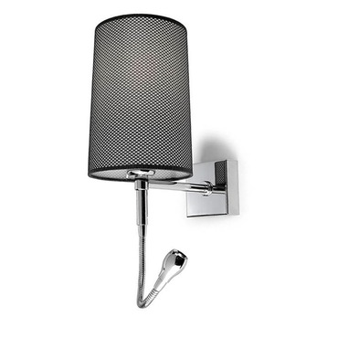 A-47 Basic Wall with LED Reading Light by Lightology Collection   LC-A-47-C